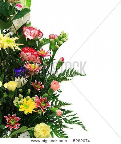 Floral arrangement with copyspace for text.