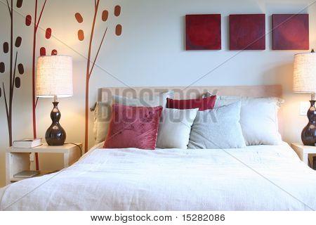 Beautiful contemporary bedroom.