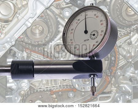Digital indicator on the stand for the accurate measurement readings