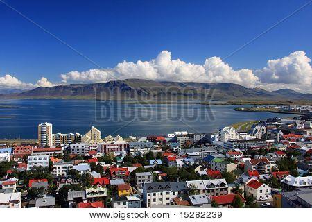 Cidade de Reykjavik, Islândia.