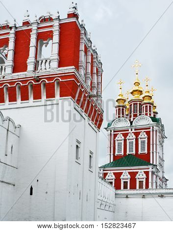 Gate tower of Novodevichy Convent, Moscow, Russia