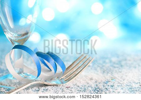 Christmas new year winter party food menu background