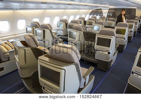 Airbus A380 Airplane Inside Seats