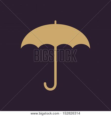 The umbrella icon. Protection symbol. Flat Vector illustration