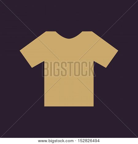 The shirt icon. T-shirt symbol. Flat Vector illustration