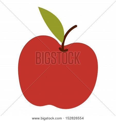 Fresh apple icon organic food. Fresh sweet apple icon vegetarian organic fruit agriculture.