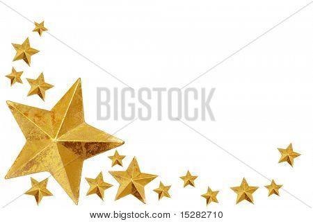 Gold Christmas stars.