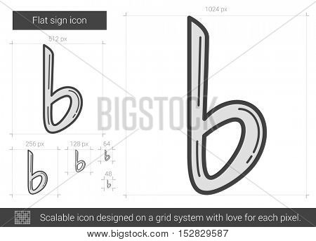 Flat sign vector line icon isolated on white background. Flat sign line icon for infographic, website or app. Scalable icon designed on a grid system.