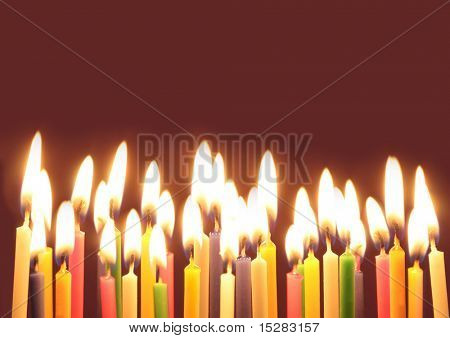 Lots of birthday candles!