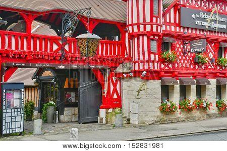 Bonsecours France - june 22 2016 : a picturesque Asatian restaurant