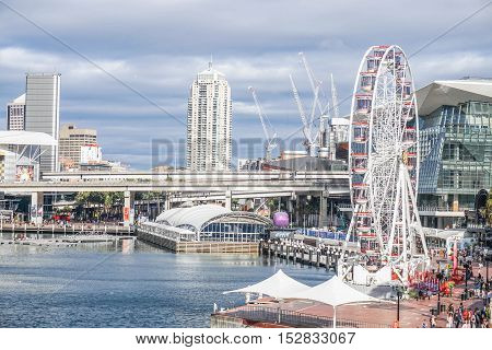 Sightseeing in the Darling Harbour in Sydney taken in Australia on 6 July 2016