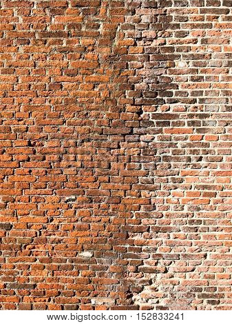 Old wall in Leiden in the Netherlands.