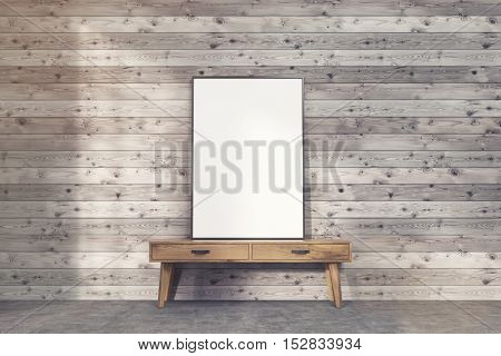 Poster On Narrow Table