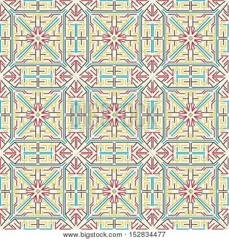 Seamless pattern of straight lines on white background