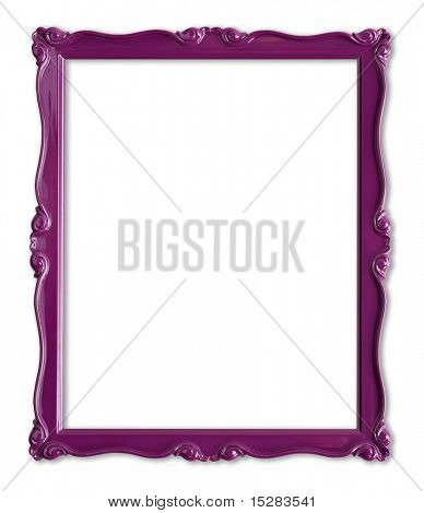 Pretty purple picture frame.