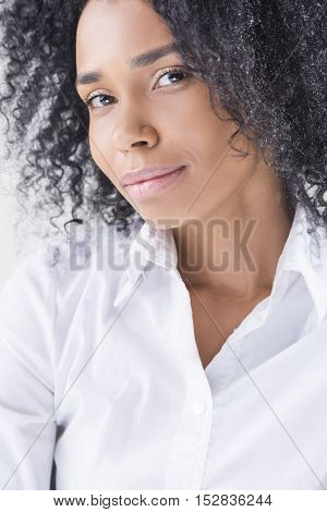 Sexy African American Girl's Portrait