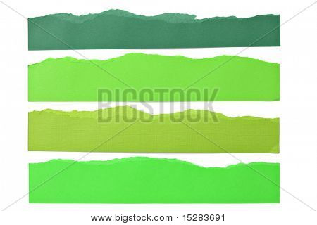 Green paper strip borders.