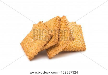 bakery, cake, sugar biscuits on a white background