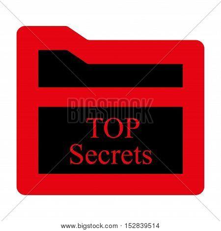 Secrets Folder Glyph Icon.