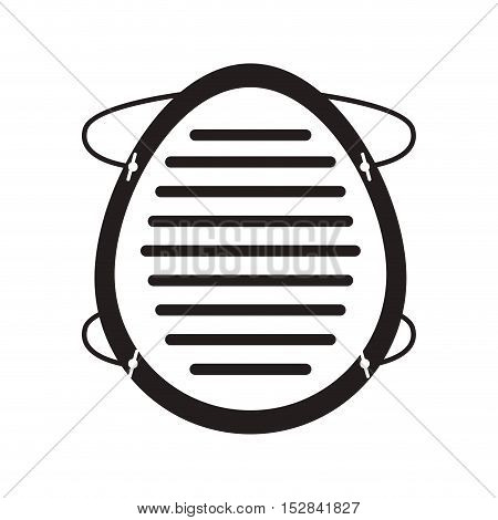 industrial security mask protection equipment over white background. vector illustration