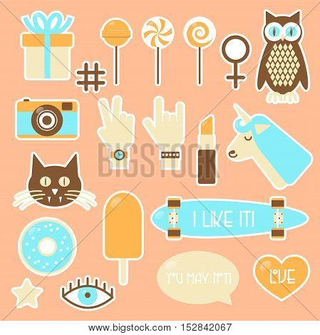 Sticker Fashion Badges