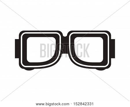 industrial security glasses protection equipment over white background. vector illustration