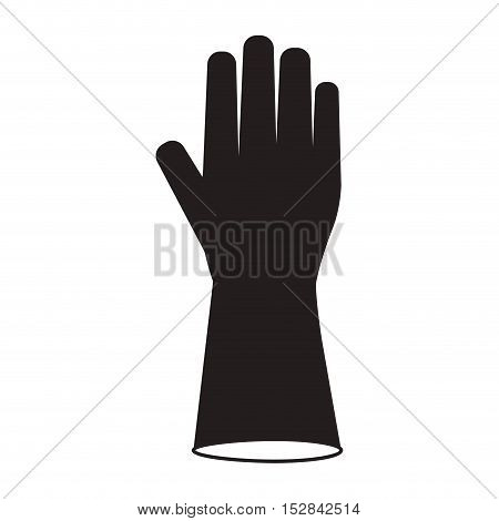 industrial security gloves protection equipment over white background. vector illustration