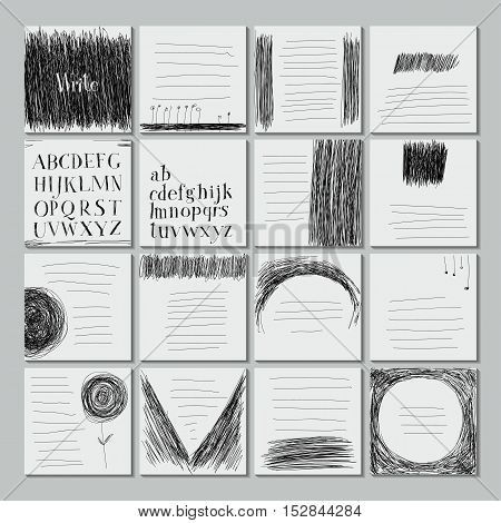 Template Sheets Note Book