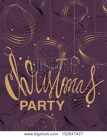 Christmas party -Vintage Christmas Background With Typography