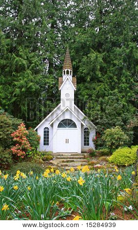 Little church in the park.
