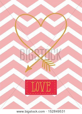 cards for your design. Love. Cards for the holiday. Valentine's Day. Vector illustration.