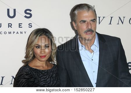 LOS ANGELES - OCT 20:  Tara Wilson, Chris Noth at the