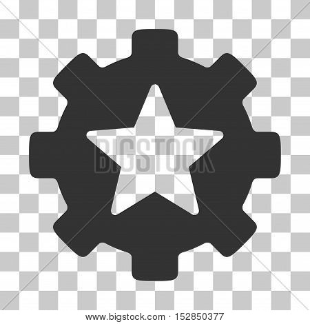 Gray Star Favorites Options Gear interface icon. Vector pictograph style is a flat symbol on chess transparent background.