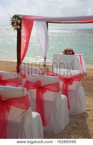 Tropical beach wedding.