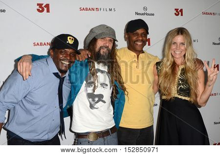LOS ANGELES - OCT 20:  Kevin Jackson, Rob Zombie, Lawrence Hilton-Jacobs, Sheri Moon Zombie at the Special Screening of
