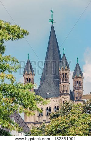 church of Gross St. Martin in Cologne, Germany