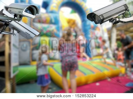Cctv Camera Surveillance With Kids