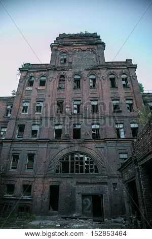Abandoned Factory Red Triangle, Saint Petersburg, Russia. Location of filming