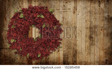 A country Christmas wreath.