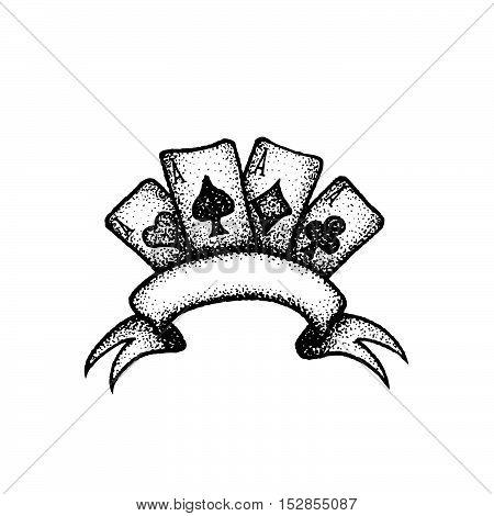 Vector Hand Drawn Cards Illustration.