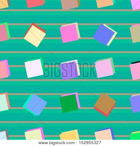 Seamless abstract square color style pattern. Vector illustration