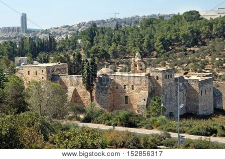 Monastery of the Cross in the Valley of the Cross in Jerusalem
