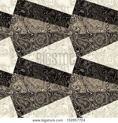 Abstract black and white pattern with marbled veined structure. Mottled black and white pattern with classic texture of marble