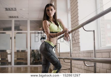 Fitness, Sport, Powerlifting And People Concept - Sporty Woman Standing In Gym