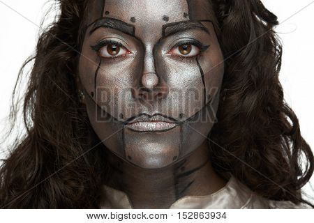 Women With Silver Face