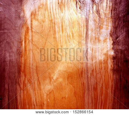 Weathered Red Fiberboard Texture.