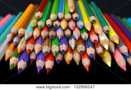 The Bundle Of Many Colour Pencils