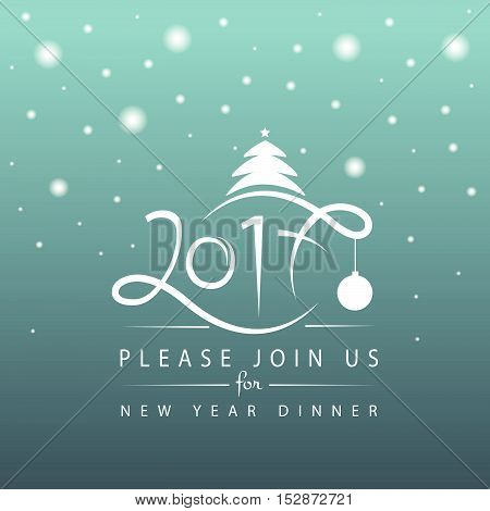 2017 Typography For Christmas/new Year Greeting Card/invitation