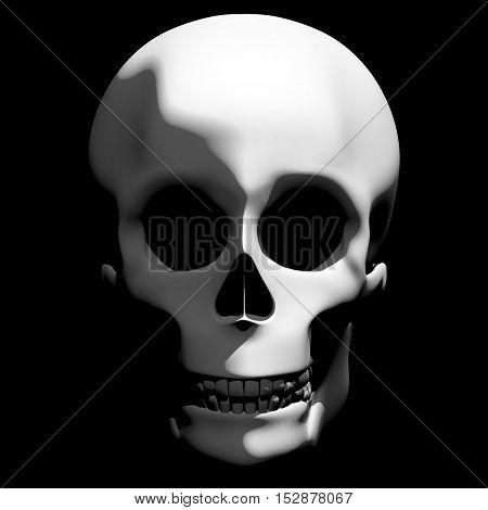 Creepy Shadowed Skull Halloween