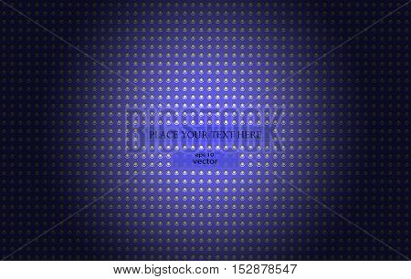 Dark blue futuristic shiny metal background. 3D render illustration